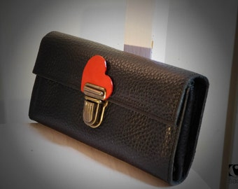 portfolio mini pouch leather