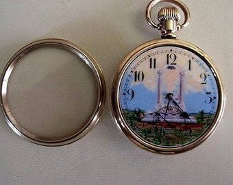 Quality Antique Swiss Gold Filled 17 Jewelled Masonic Pocket Watch - Visible and Dennison - c1910-20