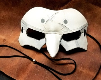 Leather Reaper Cosplay Mask, Overwatch - Made to Order