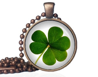 Clover Necklace - Lucky Clover Necklace - St. Patty's Day Necklace - Three Leaf Clover Necklace