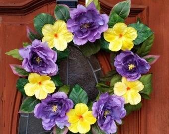 SUMMER CLEARANCE Summer Door Wreath Handmade