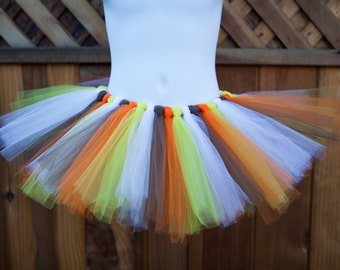 Thanksgiving Tutu/Brown, Orange, Yellow and White Tutu/Turkey Tutu - Other Colors Available