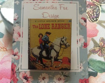 The Lone Ranger Wooden Brooch, Women's Accessories, Gifts for Her