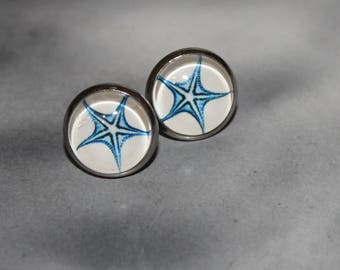 Starfish Studs, Hypoallergenic Stainless Steel Earrings 12mm