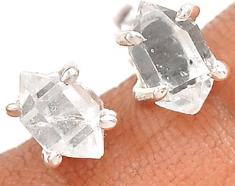 Herkimer Diamond 925 Sterling Silver Stud Earrings