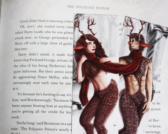 Faun Couple Bookmarks