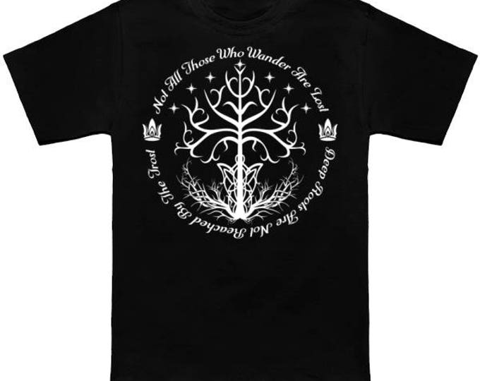 WHITE TREE Of HOPE Geek T-Shirt Gandalf Lord of the Rings LotR Nerd Grey White Wizard Dragon Fantasy Fellowship Return King Two Towers