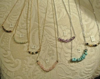 Gold and Silver Necklaces with Gemstones