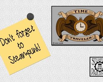 Time Traveler Official Refrigerator Magnet - Steampunk Scifi Nerd/Geek Fridge Magnet for Doctor Who Fans