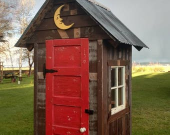 Garden Shed - Outhouse style- Reclaimed materials - Vintage inspired - Shabby Chic - Window - Door