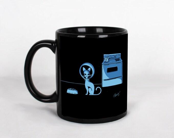 Featured listing image: Alien Cat Series Coffee Mug or Tea Mug Retro Atomic 60s Style Art