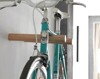 """Bicycle wall mount """"HENRY"""" made of wood. Bikeshelf   Bike rack"""