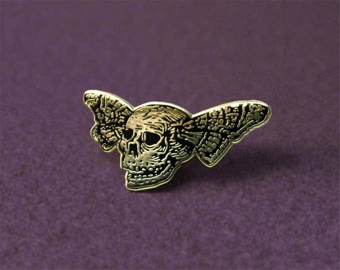 Featured listing image: Lapel pin: Butterfly Skull