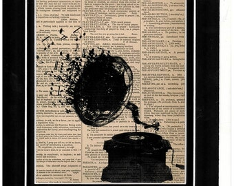 Vintage dictionary typography art