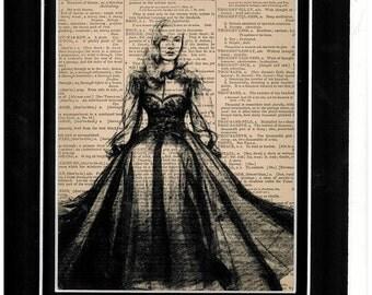 160 Veronica Lake vintage dictionary art