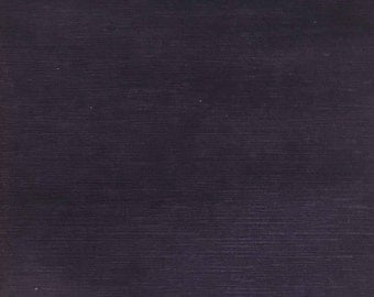 Velvet Upholstery Fabric - Pond - Aubergine - Strie Textured Microfiber Slubbed Velvet Upholstery Fabric by the Yard- Available in 40 Colors