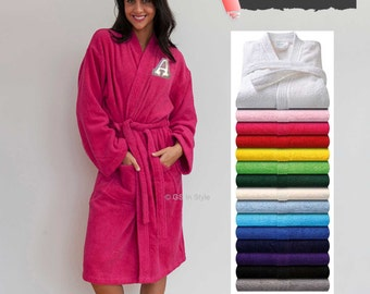 Personalised bathrobe with any letter