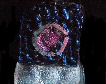 Fused Dichroic Glass: Silver Zowie