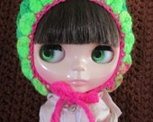 Hand Crocheted Blythe Gnome Pixie Hat - B