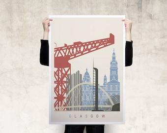 Glasgow Travel Poster