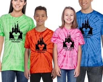 Matching Family Vacation tshirt,Tie Dye Shirt,Disney Vacation Shirt shirt,Disney Trip Tshirt,Unisex Disney Shirt,Disney Shirt,Tie Dye Top