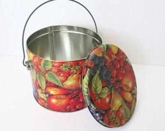 Decorative Fruit Tin