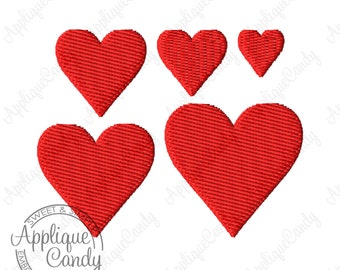 Mini Heart Solid Fill Machine Embroidery Design 0.5x0.5 0.75x0.75 1x1 1.25x1.25 1.5x1.5 INSTANT DOWNLOAD