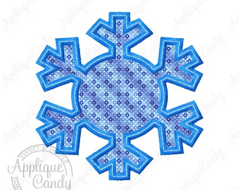 Snowflake Applique 2 Machine Embroidery Design 3x3 4x4 5x5 6x6 snow flake winter frozen INSTANT DOWNLOAD