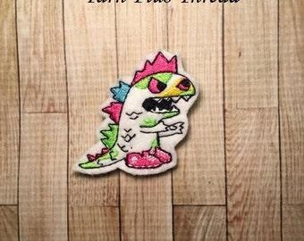 Spike Dino Feltie Embroidery Design