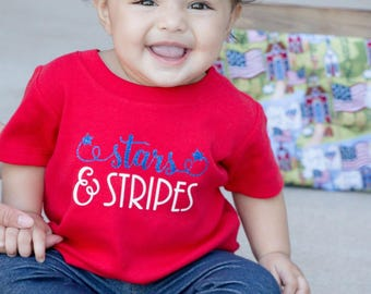 Stars and Stripes shirt, Fourth of July baby girl, Fourth of July shirt, 4th of july baby girl, 4th of july shirt, baby girl 4th of july, 4t