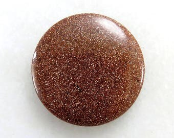 Golden Sandstone 34X34X5mm Round Shape Gorgeous Loose Gemstone Cabochon Golden Sandstone Gemstone For Jewellery Making 48Cts B-2602