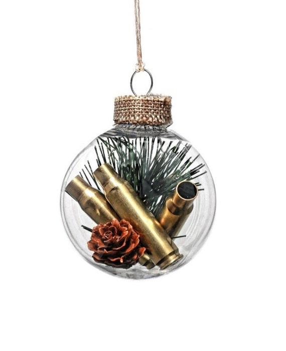 Hunting ornament Christmas ornament gun gifts bullet