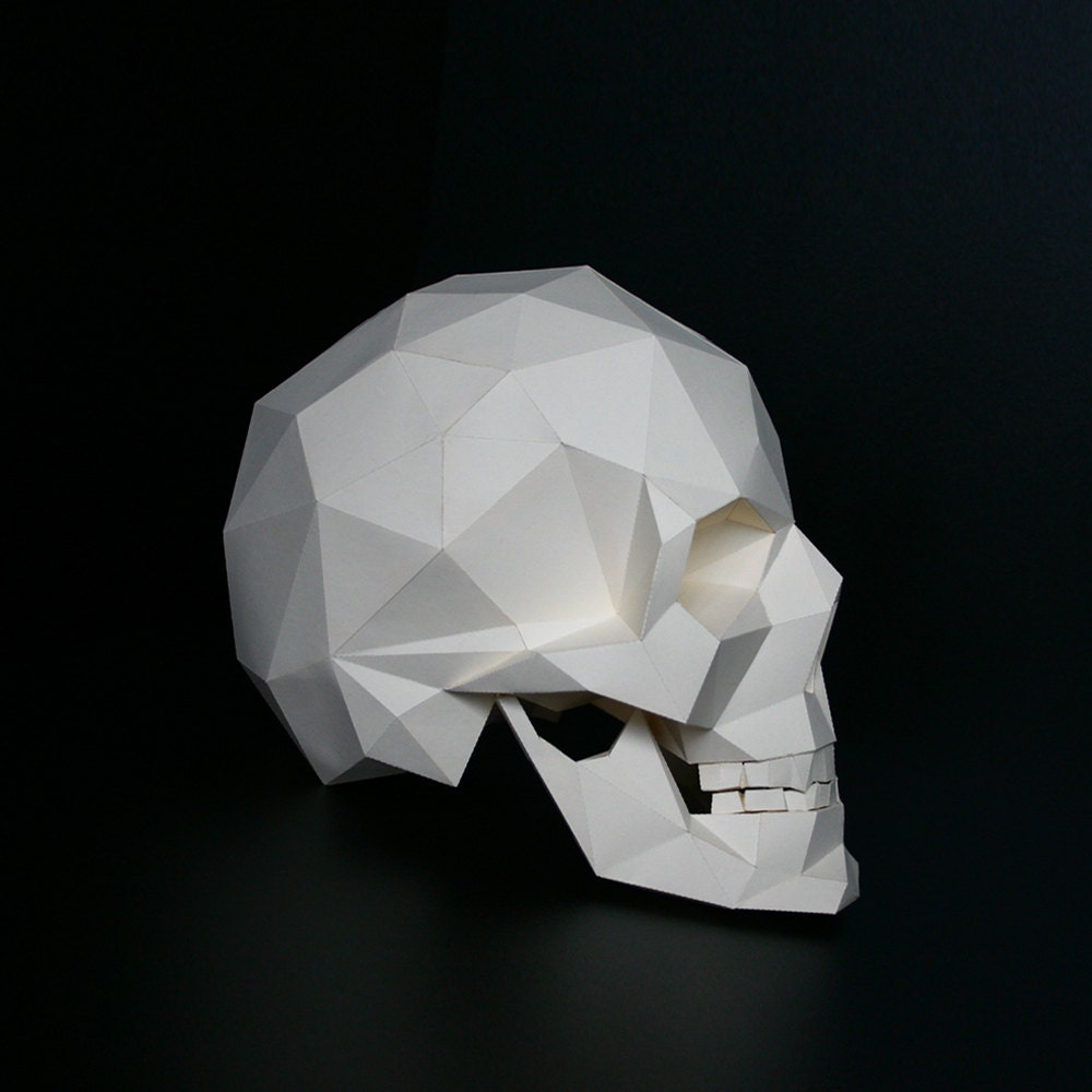 Skull Paper Craft Paper