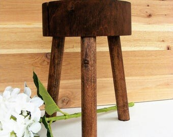 Plant Stand, Rustic Live Edge, Reclaimed Wood Stand, Rustic Wood  Plant Stand, Poplar Wood Plant, Stand