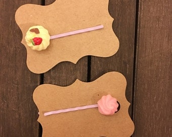 Dessert Bobby Pin Set, Two Pack Bobby Pin Set, Candy Bobby Pin Set, Bobby Pin Set, Hair Pin Set