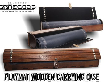 Playmat wooden carrying case