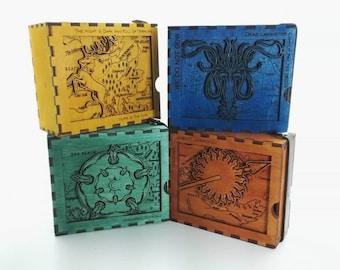 Game of thrones, token, card, box