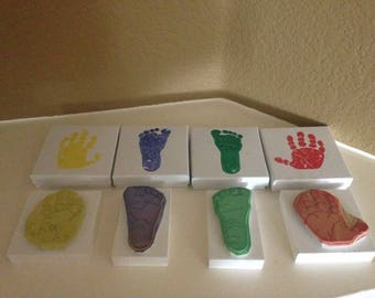 Custom stamps from baby hand or foot print
