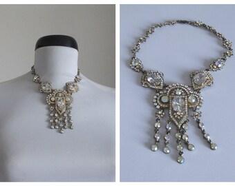 Vintage Necklace/ 1950s-1960s aurora borealis necklace/ vintage1950s necklace
