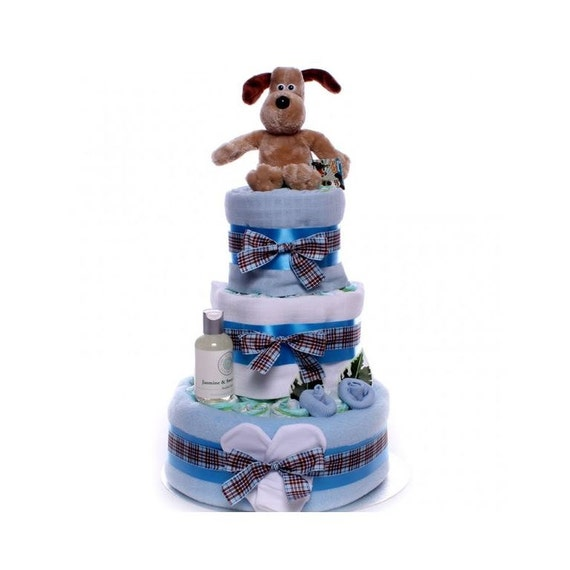 Gromit Nappy Cake Baby Boy.