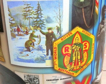 Canadian Boy Scout Tin Container/Boy Scout Memorabilla/Boy Scout Jamboree Tin/Canadian Scouts/Scouts Canada/Boy Scouts Collectables/Canada