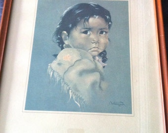 Oxborough Framed Print/Dorothy Oxborough/Native Art Print/First Nations Framed Print/First Nations Child Print/Oxborough Native Print