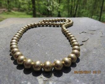 Vintage 12 Karat Gold Filled Beaded Necklace