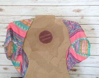 Eco Friendly Clothing, Infinity Scarf Shawl, Lightweight Shawl, Sheer Scarf, Summer Bolero, Pastel Scarf, Spring Summer Shawl, Gift for Her