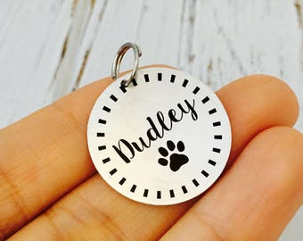 Puppy  ID Tag/ Dog ID Tag / Cat Tag / New Puppy Gift / New Dog Gift/Personalized Pet Tag / Custom Dog Tag  / Name Number