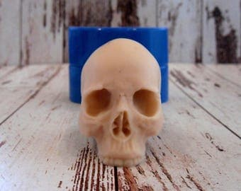 Skull 3 - silicone mold for soap and candles making mould molds