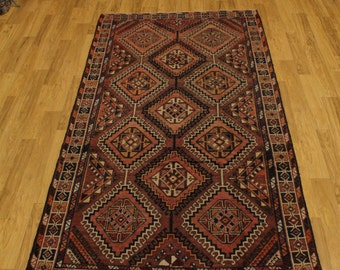 Rust Color Tribal Handmade Yalameh Bakhtiari Persian Oriental Area Rug 5X10