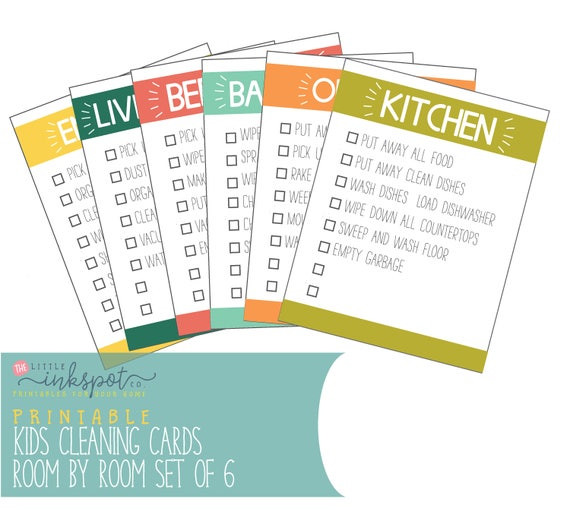 kids chart cleaning cards kids cleaning cards printable