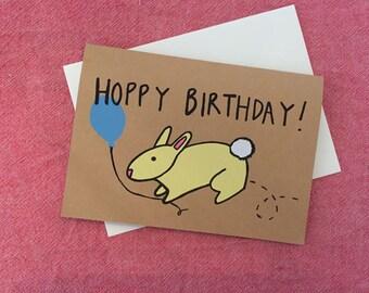 Hoppy Birthday, Bunny Birthday Card