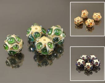 Lampwork beads, handmade glass lampwork beads, earrings ideas, Lampwork beads, glass beads, rondelle lampwork beads, artisan lampwork